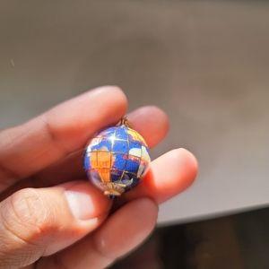 18k lapis lazuli globe pendant